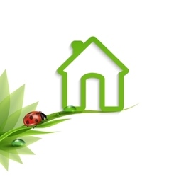 Green eco-house vector