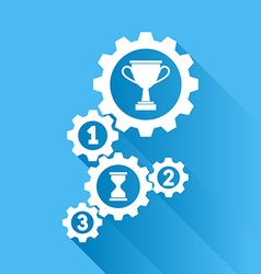 Work and achievements vector