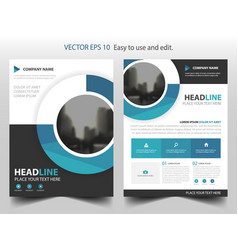 Blue circle business brochure leaflet flyer vector