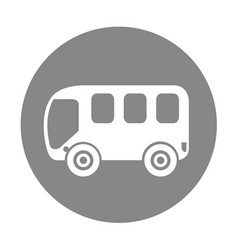bus van isolated icon vector image vector image