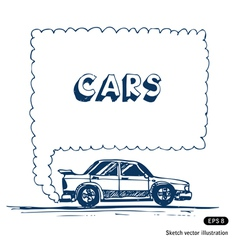 Car blowing exhaust speech bubble vector image