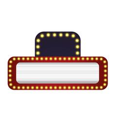 cinema signboard with light bulbs around vector image vector image