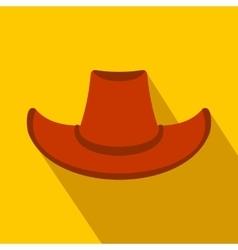 Cowboy hat flat icon vector image