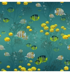 Fish seamless pattern vector image vector image