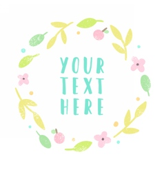 Floral laurel with place for text vector