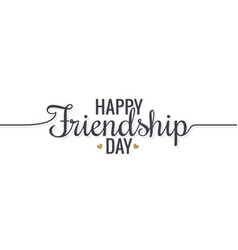 Friendship day lettering logo design background vector