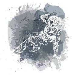 Girl street dancer vector