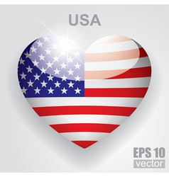 Glass heart flag vector