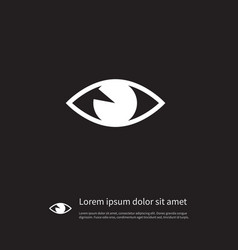 isolated vision icon see element can be vector image vector image