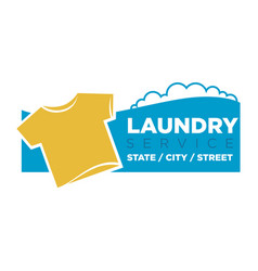 laundry service emblem vector image vector image