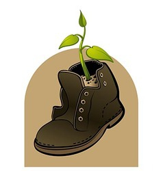 Life in a shoe vector image vector image