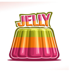 Logo for colorful jelly vector