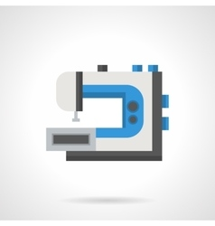 Machine for embroidery flat color icon vector