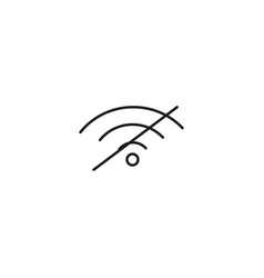 no wireless signal icon vector image vector image