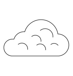Rainy cloud icon outline style vector