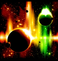 Retro space background vector image
