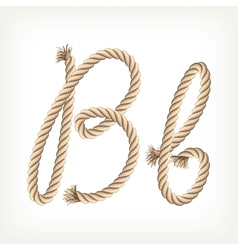 Rope alphabet Letter B vector image