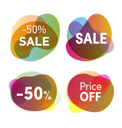sale stickers set discounts and price reduction vector image