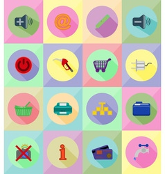 service flat icons 39 vector image vector image