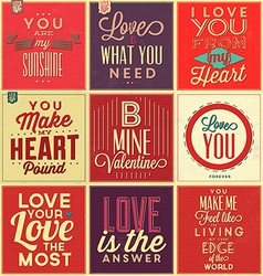 Set Of Vintage Typographic Backgrounds vector image