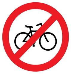 sign no bicycle vector image vector image