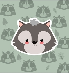 skunk with pattern background image vector image vector image