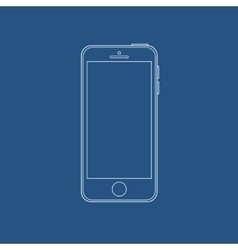 smartphone outline icon in iphone style eps vector image