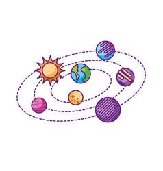 solar system universe galaxy planets sun vector image