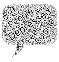 Suicide the final straw text background wordcloud vector