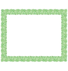 Frame made of shamrock vector