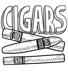 Cigars vector