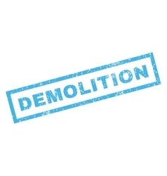 Demolition rubber stamp vector