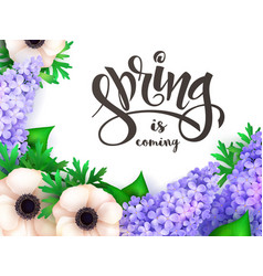 Spring hand lettering label vector