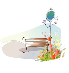 Park sketch background vector