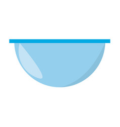 Bowl empty dishware vector
