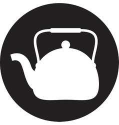 Tea maker  kitchen icon vector