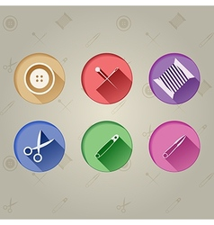 Flat icons for handmader vector image