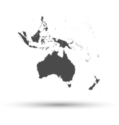 Australia map background vector