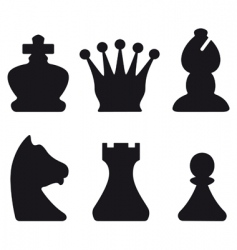 Chessmen symbols vector