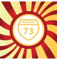 Interstate 73 abstract icon vector