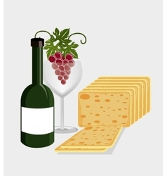 Wine drink graphic design with icons vector