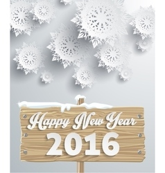 Snowflakes background happy new year vector