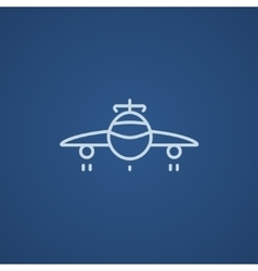 Airplane line icon vector
