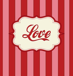 retro love design vector image