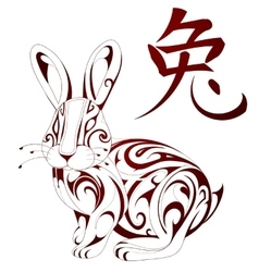 Rabbit as symbol for Chinese zodiac vector image