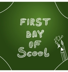Background first day of scool background vector