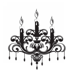 Baroque elegant wall lamp vector