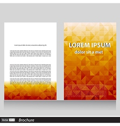 Business brochure with space for text vector image