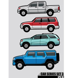 cars series set 3 vector image