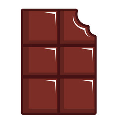 Chocolate bar icon cartoon style vector